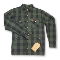 Moto Eleven Kevelar chemise noir-vert L
