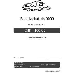 Bon cadeau d\'une valeur de 100 CHF