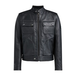 BELSTAFF SLIDER veste cuir noir 2XL