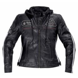 Difi veste cuir dame Jolene noir 42