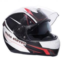 M11 Speed casque intégral noir-blanc-rouge XL