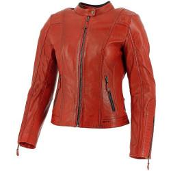 Richa veste cuir dame Lausanne rouge 42