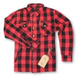 M11 PROTECTIVE chemise rouge-noir L