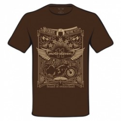 T-Shirt Moto Eleven Riverside Tattoo brun XL