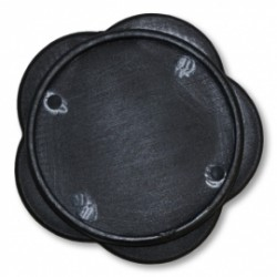 Plaque pour béquille latérale noir