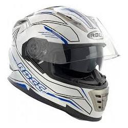 Rocc 486 casque blanc-bleu XS