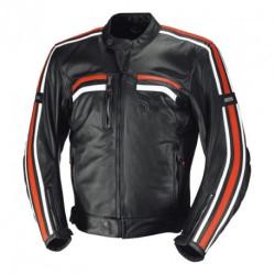 IXS veste cuir Edwin noir-blanc-orange 54