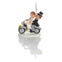 Moto Booster mariés clip 8cm