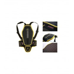 Forcefield Pro L2K dorsale Dynamic noir-jaune M 62cm de long au total, largeur 26cm au plus large