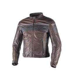 Dainese veste cuir Blackjack noir-brun 54