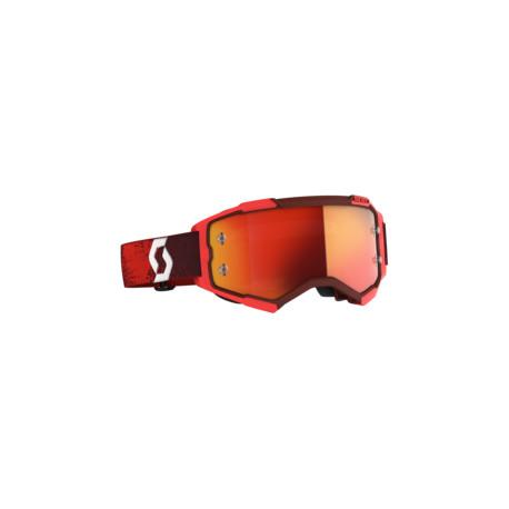 Scott Lunettes Fury rouge/orange chrome