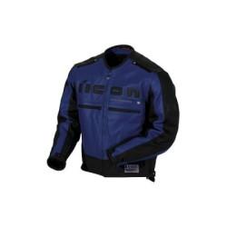 Icon veste cuir Motorhead bleu/noir M