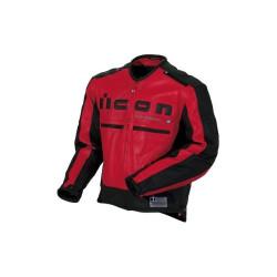 Icon veste cuir Motorhead rouge/noir S
