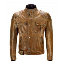 Belstaff veste cuir Brooklands Burnt Cuero L