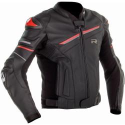 Richa veste cuir Mugello 2 noir-rouge 62