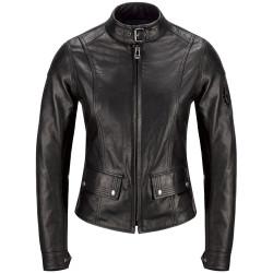 44 (correspond à la taille 40 Suisse) Belstaff veste Lady Calthorpe cuir noir
