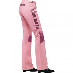 ICON BOMBSHELL pantalon cuir dame rose 34