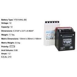 Batterie YTX14 AHL- BS YUASA