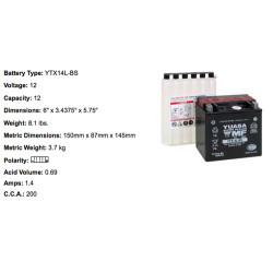 Batterie YTX14L BS YUASA
