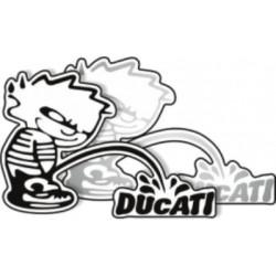 Autocollant Mop Ducati 2 pièces argent