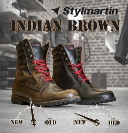 Bottes Stylmartin Indian Brun 43 - chez aplusmoto SA - 027 322 07 00 a209824222b
