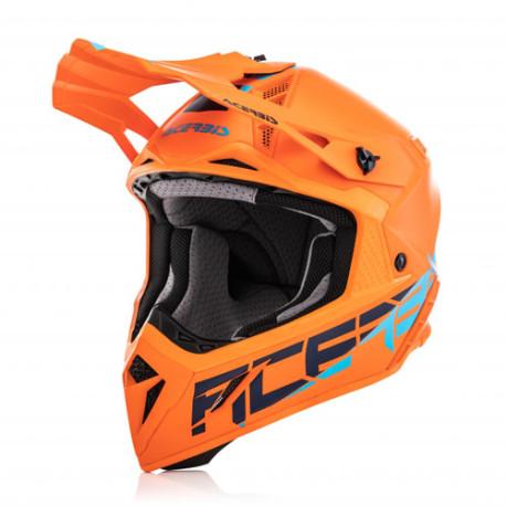 Acerbis casque cross Impact Steel Carbon orange S