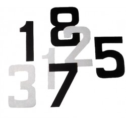 Numero 7 blanc autocollant