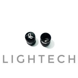 Lightech Bouchons de valves alu noir