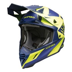 casque cross X-Track VTR bleu jaune S