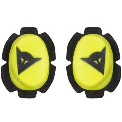 Dainese Pista Slider genoux noir-jaune fluo