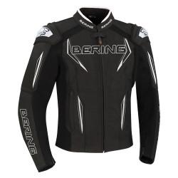 Bering veste cuir Sprint-R noir-blanc 2XL