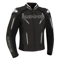 Bering veste cuir Sprint-R noir-blanc 3XL
