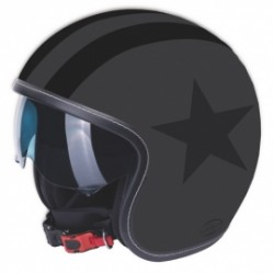 M11 casque Jet Vintage Star noir/anthr. mat L
