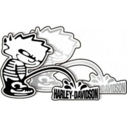 Autocollant Mop Harley Davidson 2 pièces argent