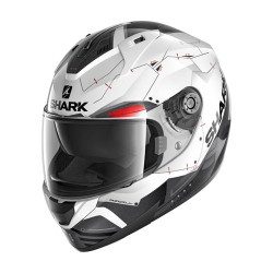Shark RIDILL 1.2 Mecca blanc-noir-rouge XL