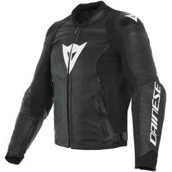 Dainese veste cuir Sport Pro noir-blanc 50