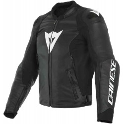 Dainese veste cuir Sport Pro noir-blanc 56