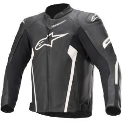 Alpinestars veste cuir Faster V2 noir-blc 48