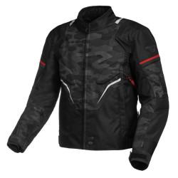 Macna jacket Adept camo-noir-rouge M