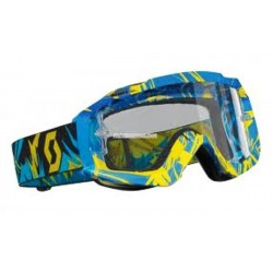 Scott Hustle MX Strobe bleu/jaune clear wks