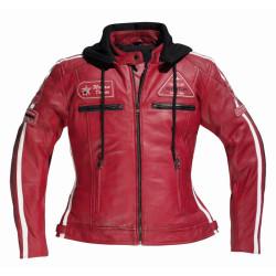 Difi veste cuir dame Jolene rouge 38