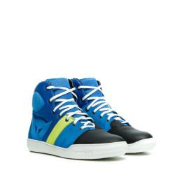 Dainese York Air Shoes bleu-jaune fluo 43