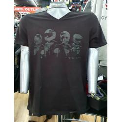 Held T-Shirt Design Face noir L