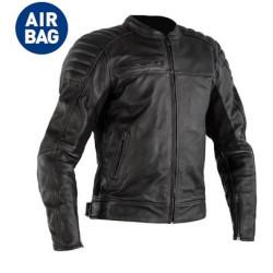 RST veste cuir Fusion noir Airbag 48/XS