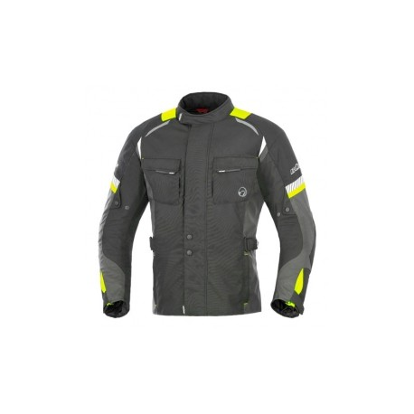 Büse veste Breno enfant noir-jaune fluo 116