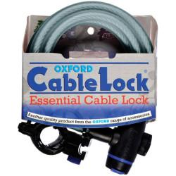 Câble antivol Oxford 1.8m x 12mm 3 clés