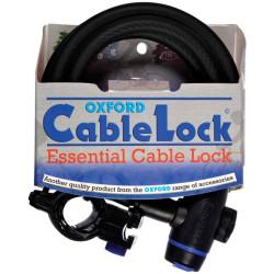 Câble antivol Oxford noir 1.8m 3 clés