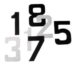 Numero 8 blanc autocollant
