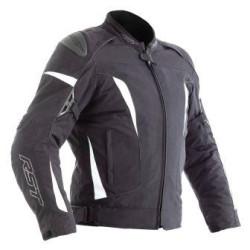 RST Veste textile GT noir-blanc S