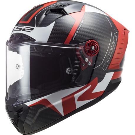 LS2 FF805 Thunder C Racing1 blanc-rouge M